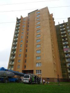 Renovace fasády výškové budovy